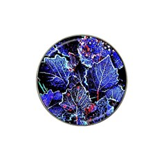 Blue Leaves In Morning Dew Hat Clip Ball Marker by Costasonlineshop