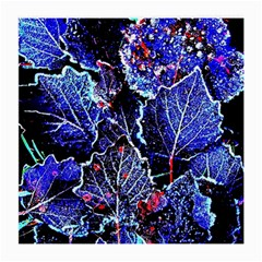 Blue Leaves In Morning Dew Medium Glasses Cloth by Costasonlineshop