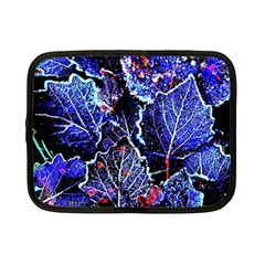 Blue Leaves In Morning Dew Netbook Case (small)  by Costasonlineshop