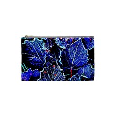 Blue Leaves In Morning Dew Cosmetic Bag (small)  by Costasonlineshop
