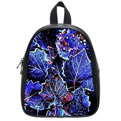 Blue Leaves In Morning Dew School Bags (small)