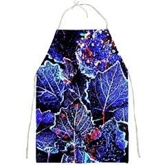 Blue Leaves In Morning Dew Full Print Aprons