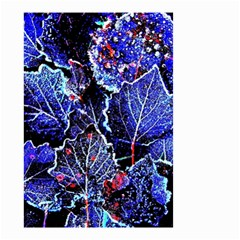 Blue Leaves In Morning Dew Small Garden Flag (two Sides) by Costasonlineshop