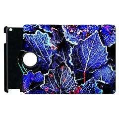 Blue Leaves In Morning Dew Apple Ipad 3/4 Flip 360 Case by Costasonlineshop