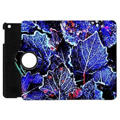 Blue Leaves In Morning Dew Apple Ipad Mini Flip 360 Case by Costasonlineshop