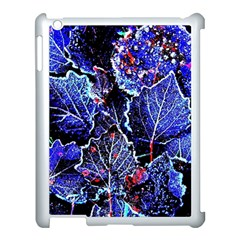 Blue Leaves In Morning Dew Apple Ipad 3/4 Case (white) by Costasonlineshop