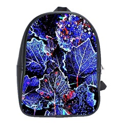 Blue Leaves In Morning Dew School Bags (xl)  by Costasonlineshop