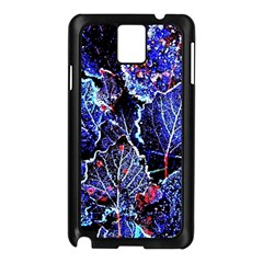 Blue Leaves In Morning Dew Samsung Galaxy Note 3 N9005 Case (black)