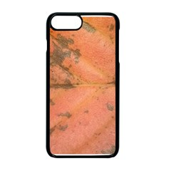 Red Leaf Texture Apple iPhone 7 Plus Seamless Case (Black)