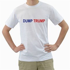 Dump Trump Men s T Shirt (white)  by extremelysilly