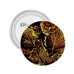 Leaves In Morning Dew,yellow Brown,red, 2 25  Buttons