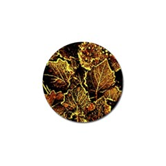 Leaves In Morning Dew,yellow Brown,red, Golf Ball Marker (4 Pack) by Costasonlineshop