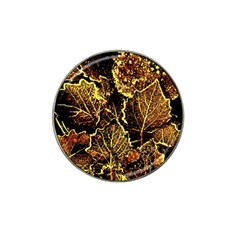 Leaves In Morning Dew,yellow Brown,red, Hat Clip Ball Marker (10 Pack) by Costasonlineshop