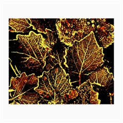 Leaves In Morning Dew,yellow Brown,red, Small Glasses Cloth (2 Side) by Costasonlineshop