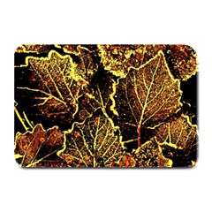 Leaves In Morning Dew,yellow Brown,red, Plate Mats by Costasonlineshop