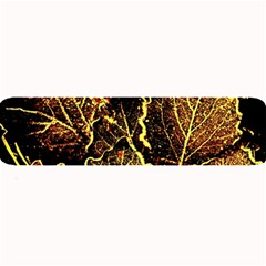 Leaves In Morning Dew,yellow Brown,red, Large Bar Mats by Costasonlineshop