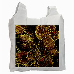 Leaves In Morning Dew,yellow Brown,red, Recycle Bag (two Side)