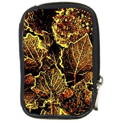 Leaves In Morning Dew,yellow Brown,red, Compact Camera Cases