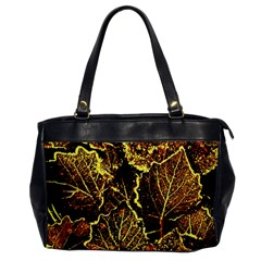Leaves In Morning Dew,yellow Brown,red, Office Handbags by Costasonlineshop