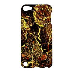 Leaves In Morning Dew,yellow Brown,red, Apple Ipod Touch 5 Hardshell Case by Costasonlineshop