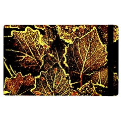 Leaves In Morning Dew,yellow Brown,red, Apple Ipad 3/4 Flip Case by Costasonlineshop