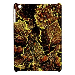 Leaves In Morning Dew,yellow Brown,red, Apple Ipad Mini Hardshell Case by Costasonlineshop