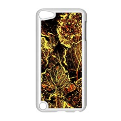 Leaves In Morning Dew,yellow Brown,red, Apple Ipod Touch 5 Case (white) by Costasonlineshop