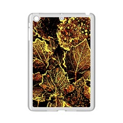Leaves In Morning Dew,yellow Brown,red, Ipad Mini 2 Enamel Coated Cases