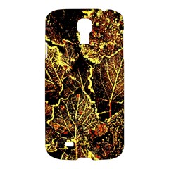 Leaves In Morning Dew,yellow Brown,red, Samsung Galaxy S4 I9500/i9505 Hardshell Case by Costasonlineshop