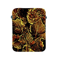 Leaves In Morning Dew,yellow Brown,red, Apple Ipad 2/3/4 Protective Soft Cases by Costasonlineshop