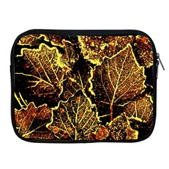 Leaves In Morning Dew,yellow Brown,red, Apple Ipad 2/3/4 Zipper Cases by Costasonlineshop