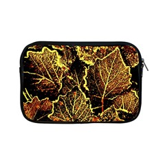 Leaves In Morning Dew,yellow Brown,red, Apple Ipad Mini Zipper Cases by Costasonlineshop