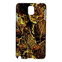 Leaves In Morning Dew,yellow Brown,red, Samsung Galaxy Note 3 N9005 Hardshell Case