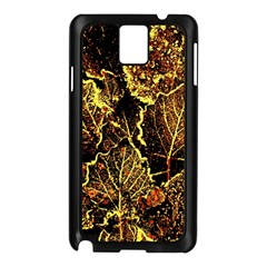 Leaves In Morning Dew,yellow Brown,red, Samsung Galaxy Note 3 N9005 Case (black)
