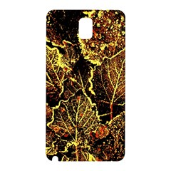 Leaves In Morning Dew,yellow Brown,red, Samsung Galaxy Note 3 N9005 Hardshell Back Case