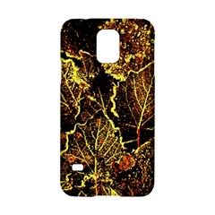 Leaves In Morning Dew,yellow Brown,red, Samsung Galaxy S5 Hardshell Case