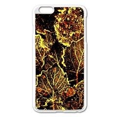 Leaves In Morning Dew,yellow Brown,red, Apple Iphone 6 Plus/6s Plus Enamel White Case by Costasonlineshop