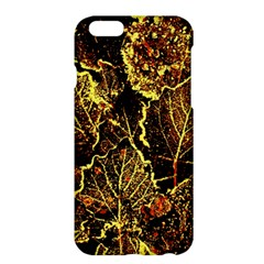 Leaves In Morning Dew,yellow Brown,red, Apple Iphone 6 Plus/6s Plus Hardshell Case by Costasonlineshop