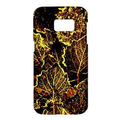 Leaves In Morning Dew,yellow Brown,red, Samsung Galaxy S7 Hardshell Case  by Costasonlineshop