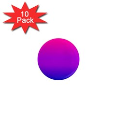 Pink Purple Blue 1  Mini Magnet (10 Pack)  by AnjaniArt