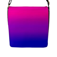 Pink Purple Blue Flap Messenger Bag (l)  by AnjaniArt
