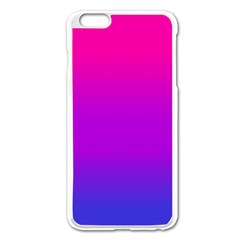 Pink Purple Blue Apple Iphone 6 Plus/6s Plus Enamel White Case by AnjaniArt