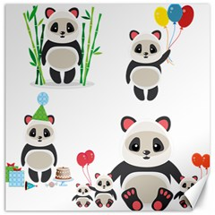 Panda Cute Animals Canvas 20  X 20   by AnjaniArt