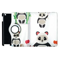 Panda Cute Animals Apple Ipad 2 Flip 360 Case by AnjaniArt