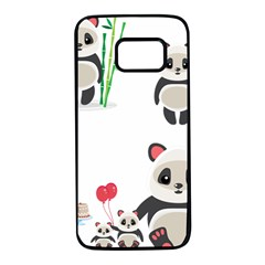 Panda Cute Animals Samsung Galaxy S7 Black Seamless Case