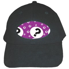 Question Mark Sign Black Cap by AnjaniArt