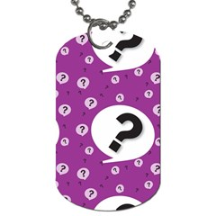 Question Mark Sign Dog Tag (One Side) by AnjaniArt