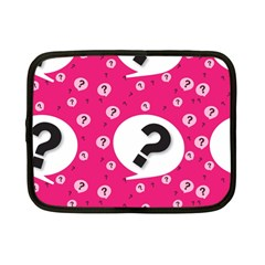 Question Mark Red Sign Netbook Case (small)  by AnjaniArt