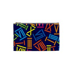 Roman Numerals Cosmetic Bag (small)  by AnjaniArt