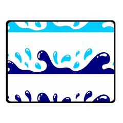 Water Fleece Blanket (small) by AnjaniArt